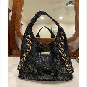 Michael Kors Black Shiny Hobo Bag